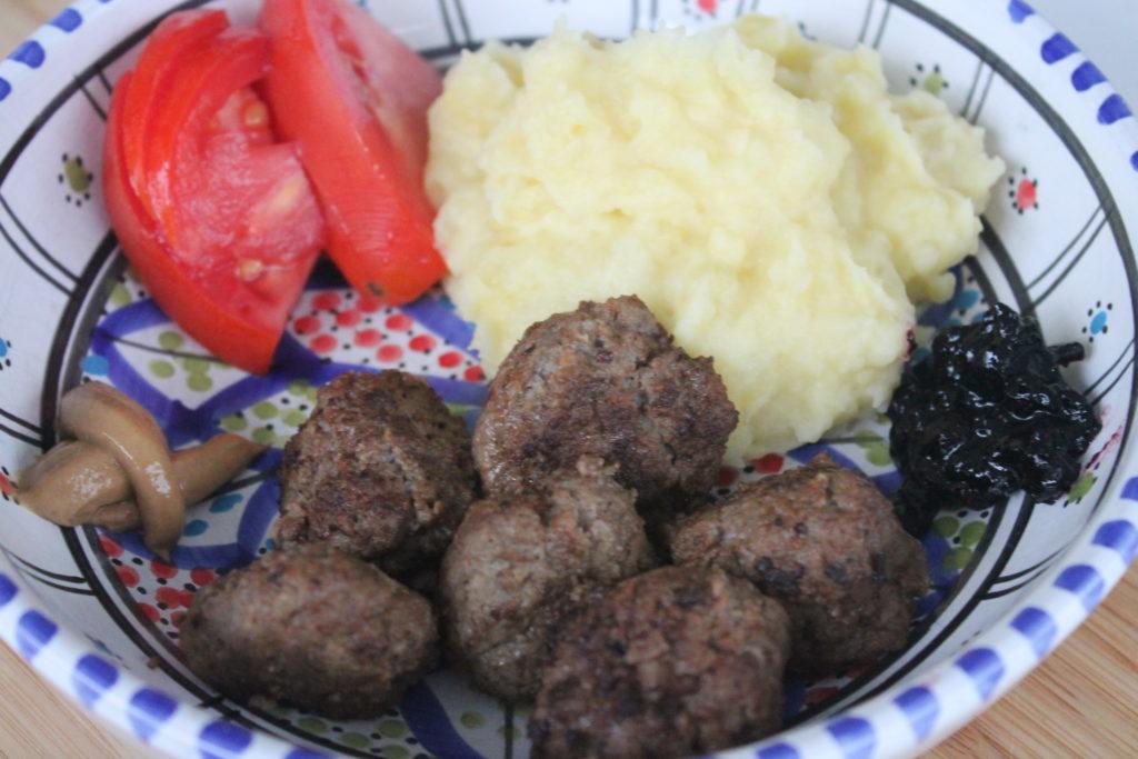 boulettes-de-viande-puree-maison